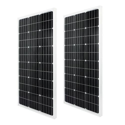 200Watt Kit 2*100W Solar Panel W/ 1000W Inverter for 12V RV