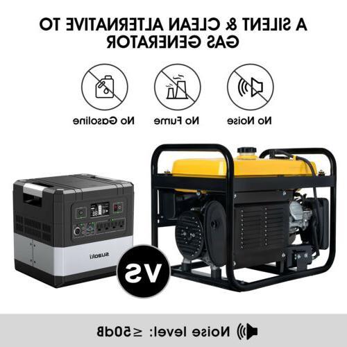 SUAOKI 1000Wh Portable Solar Generator Supply Station Energy
