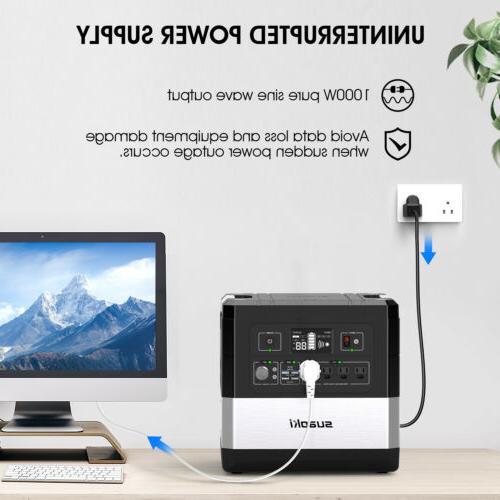 SUAOKI Portable Generator Station Camping 2 USB