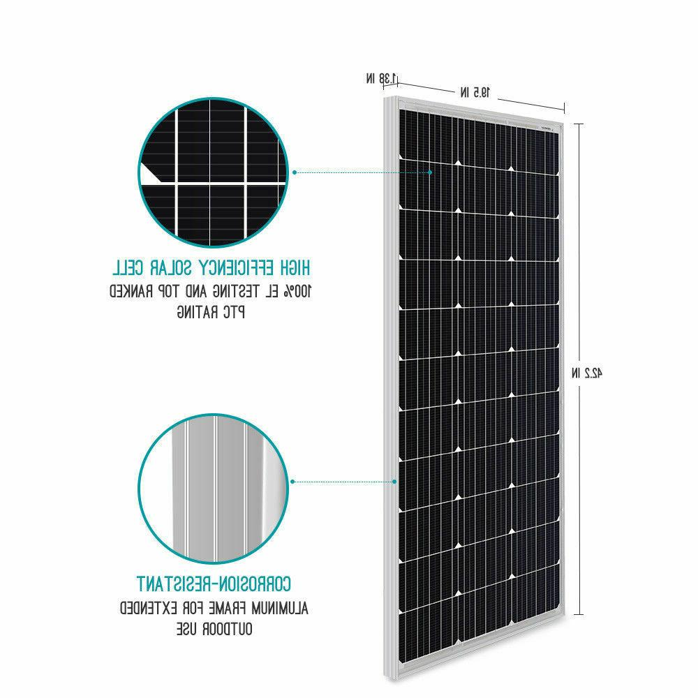 Renogy Watt 12V Mono 200W 400W Solar Panel Power RV