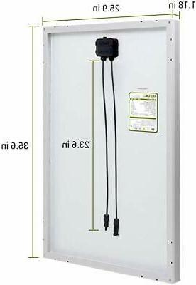HQST 100W Mono-crystalline Panel 100W Watt Power Home