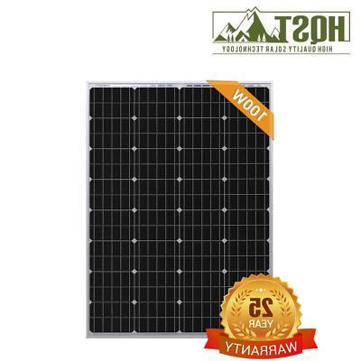HQST 100W 100 Mono-crystalline Watt PV RV