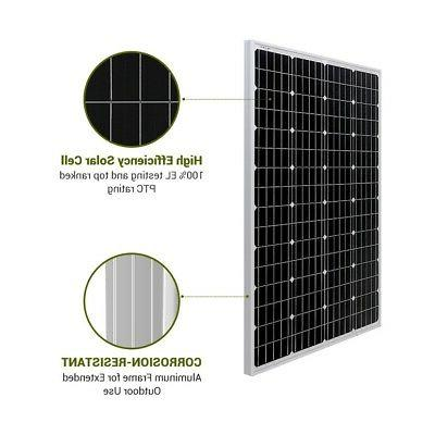 HQST 100W Watt Mono-crystalline Solar Panel Watt RV Home
