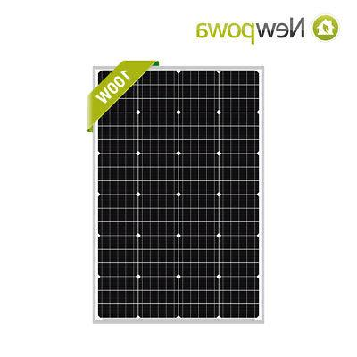 100w 100 watt mono crystalline solar panel