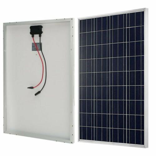 100W 12V Solar Panel Polycrystalline Grid RV Camping Home TO