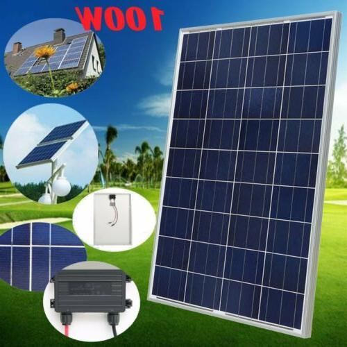 100W 12V Solar Panel Module Off Grid RV TO