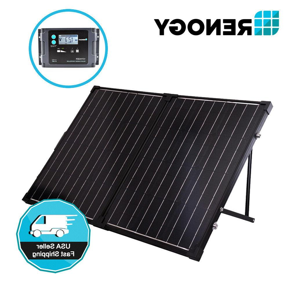 Renogy 100W Portable Mono Solar Panel 12V Suitcase Kit w/ 20