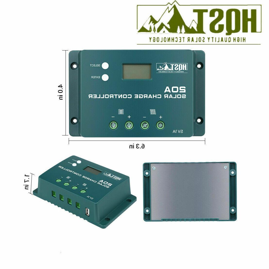 HQST 100W Mono Solar Panel W/ 20A Battery
