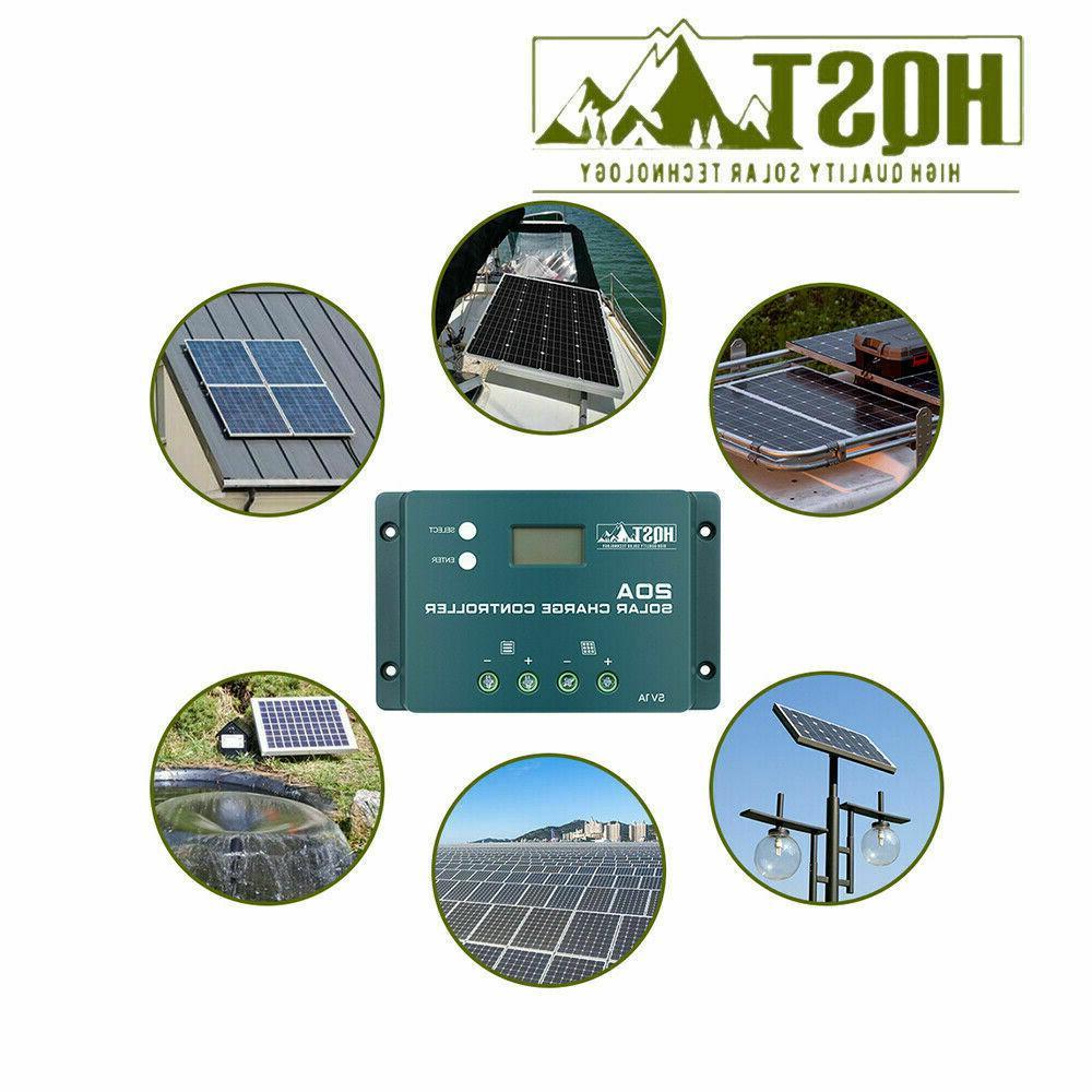 HQST 100W 12V Mono Solar W/ 20A Battery