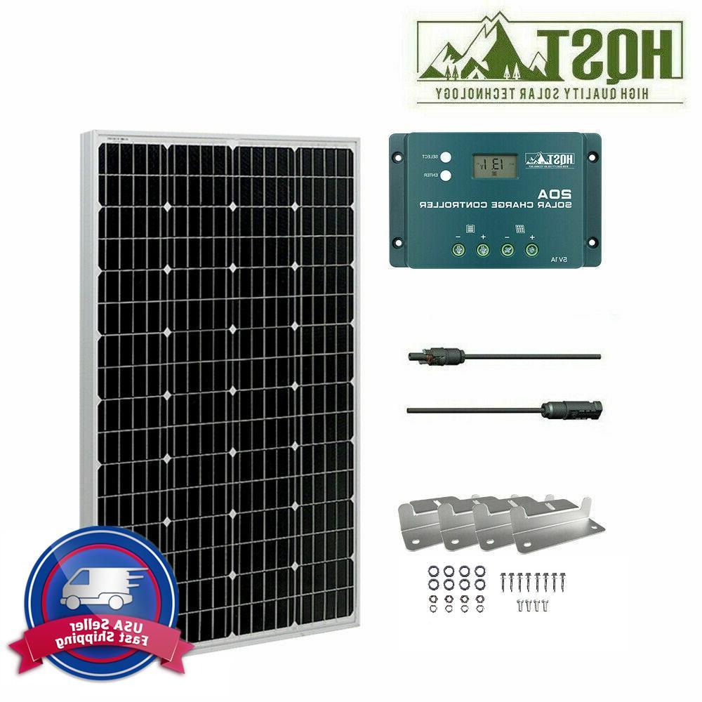 100w 12v mono solar panel starter kit