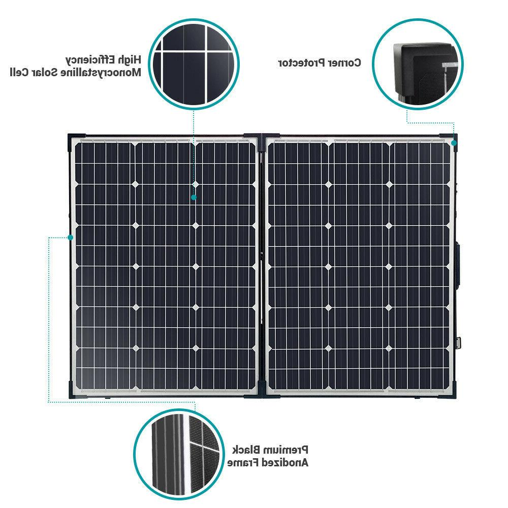 HQST Mono Folding Solar Suitcase W/ Controller