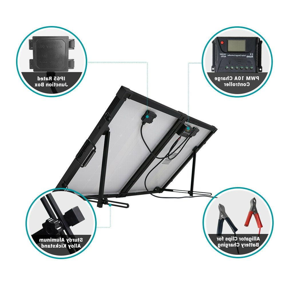 HQST 100W Portable Solar with Charge Grid