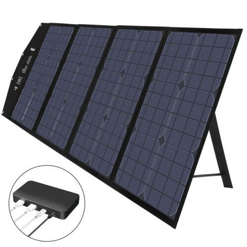 Suaoki 100W Solar Panel Power Bank Portable Bag US