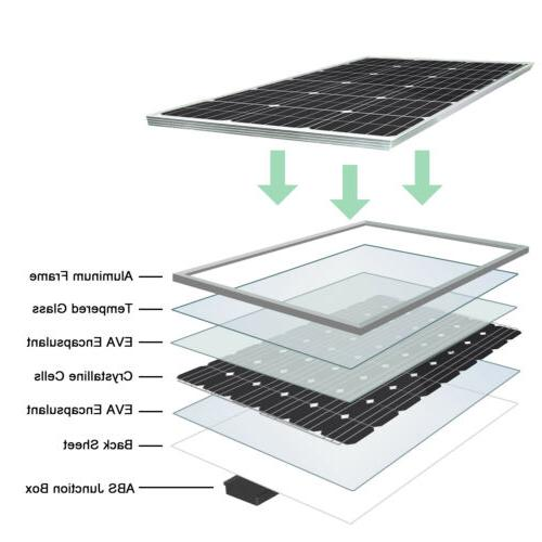 ECO 100W Solar Panel 12V Battery Charge Controller Caravan