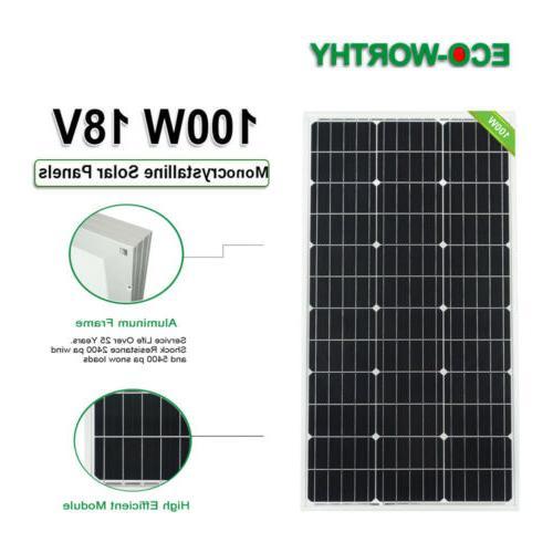 100W 200W Watt Solar Panel Marine