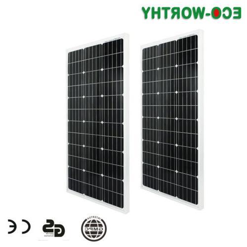 600W 800W Solar Panel 12/24V Power RV Marine