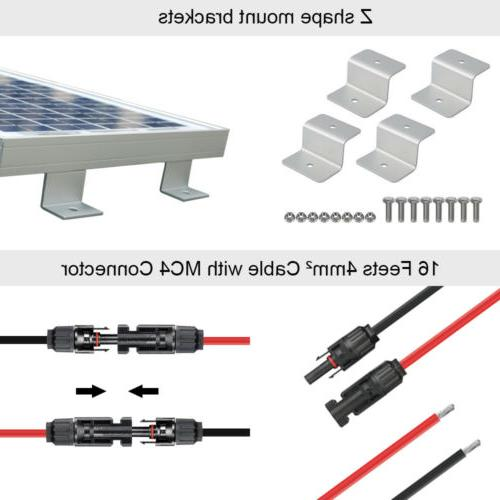 100W 200W 500W Watt Solar 12V/24V Home