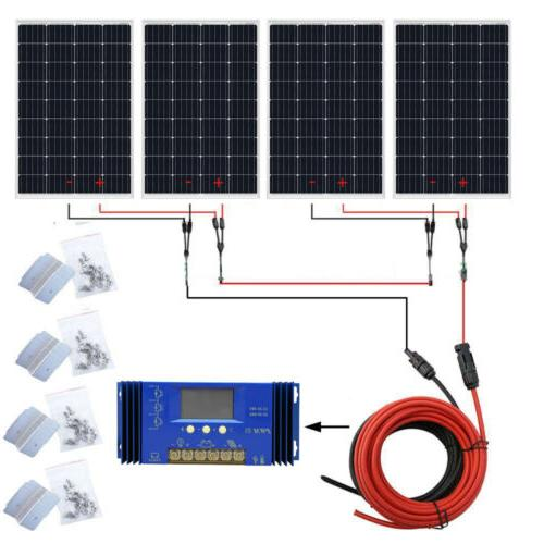 100W 500W Watt Solar 12V/24V Battery Home RV