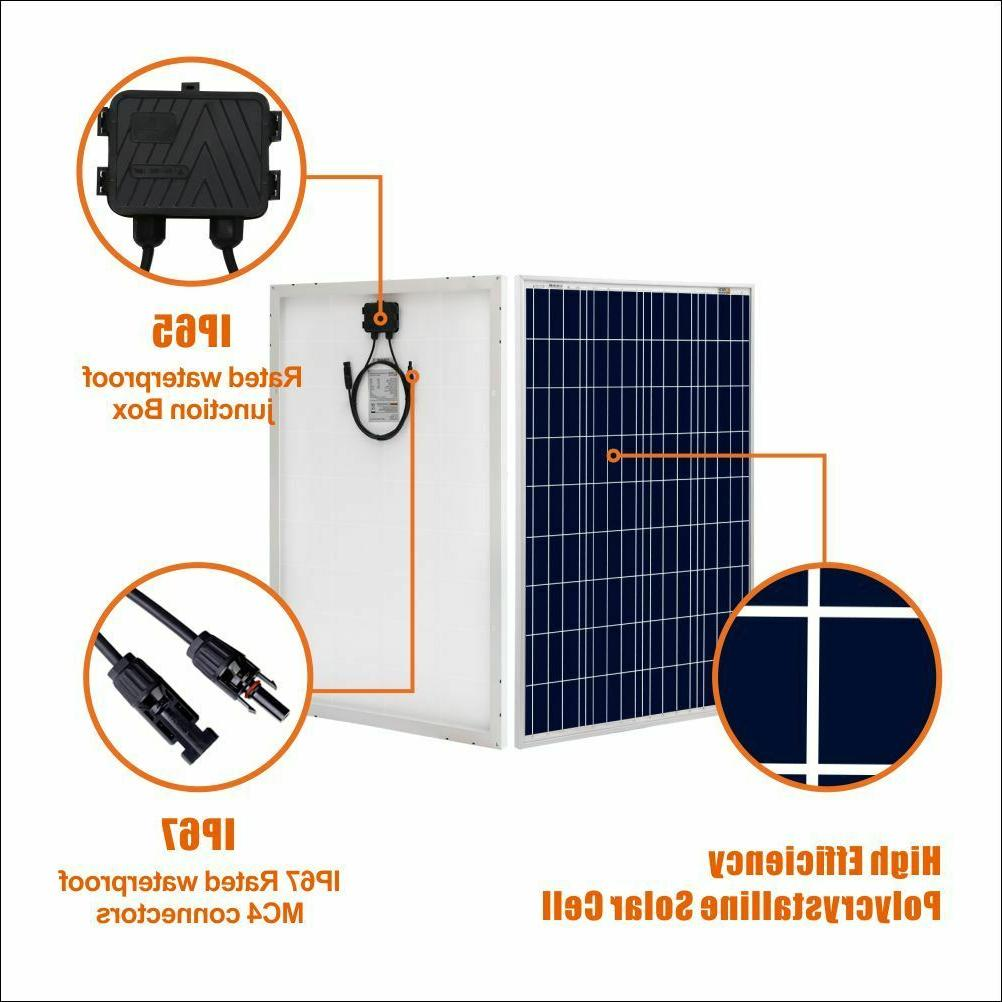 100W 200W Polycrystalline Panel Volt Battery Charging RV