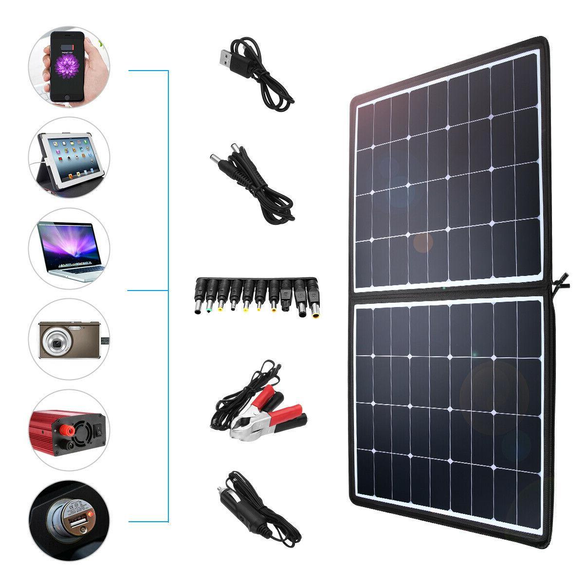 100W / 50W Solar Panel System Boat Car 18V Battery