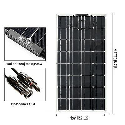100W Solar Panel Waterproof Module Battery Charger for Car USA