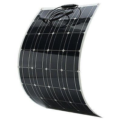 100w flexible solar panel waterproof module battery