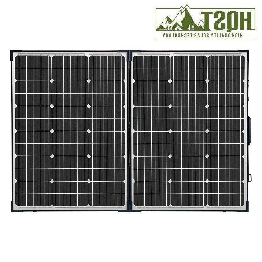 HQST 100W Solar Suitcase w/ Renogy 10A PWM