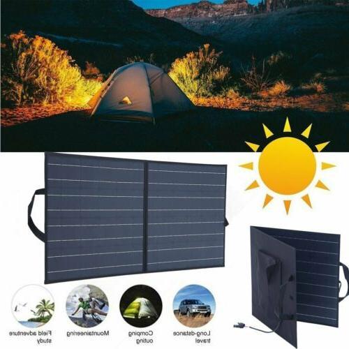 100W Portable Solar Panel Suitcase RV
