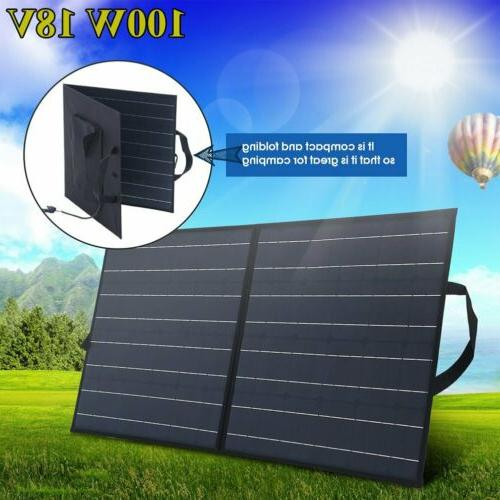100W Portable Solar Suitcase Charger RV Camping MA