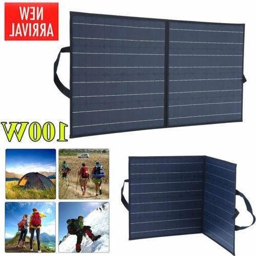 100w portable solar panel suitcase 12v battery