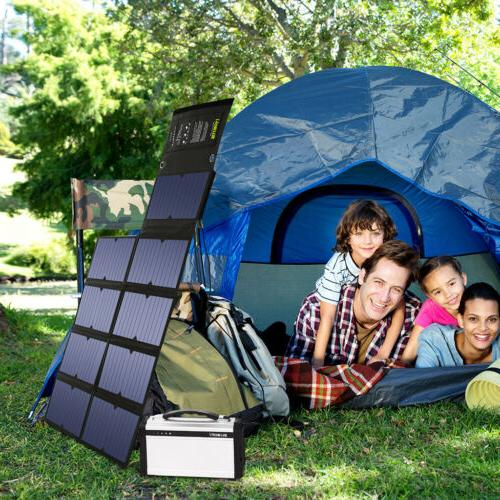 Suaoki 100W Solar Portable Panels Smartphones Camping USB New