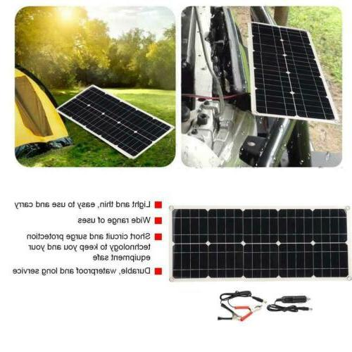 100W Solar Panel Set Foldable Charger Dual USB DC Battery Marine
