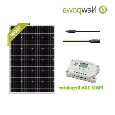 100w watt 12v solar panel pwm 10a