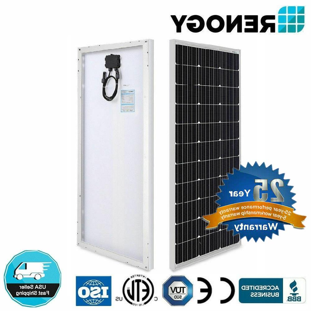 Renogy 100W Watt 12V Volt Mono-crystalline Solar Panel 100W