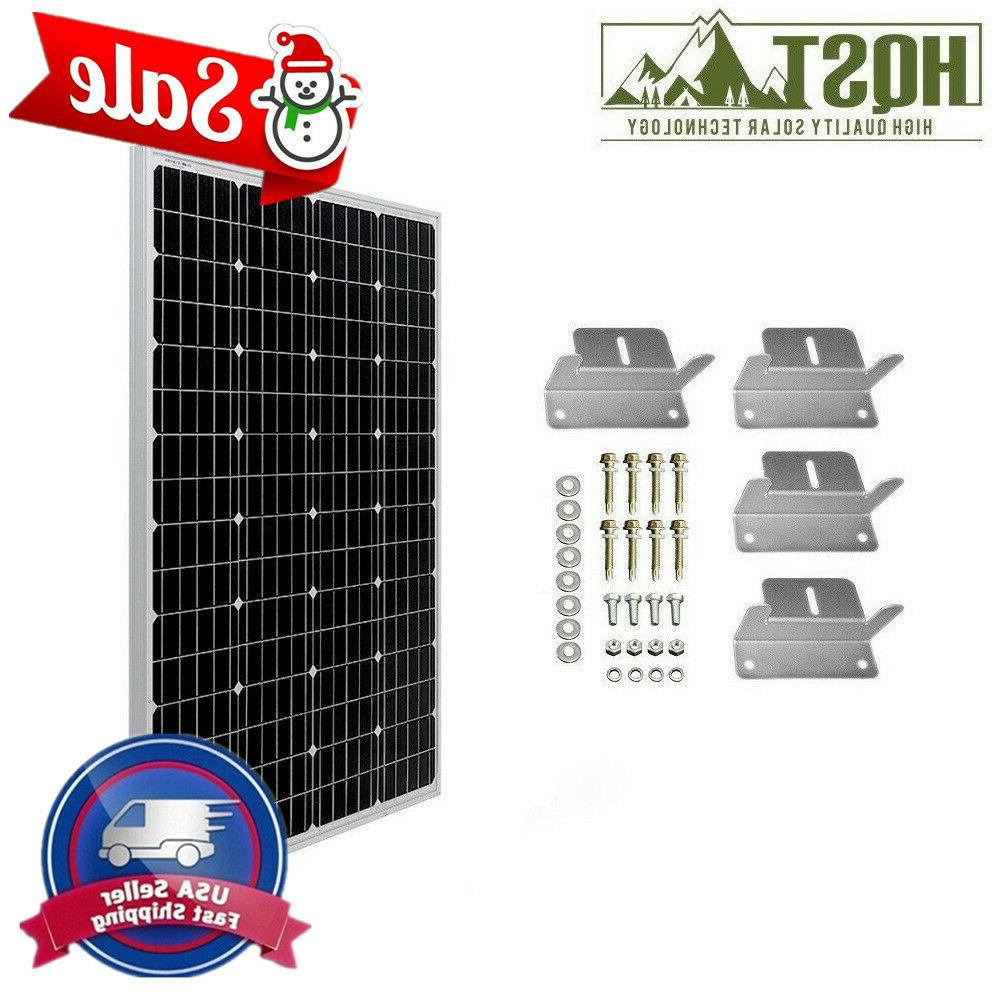 HQST 100W Watt Volt Mono or Poly Solar Brackets