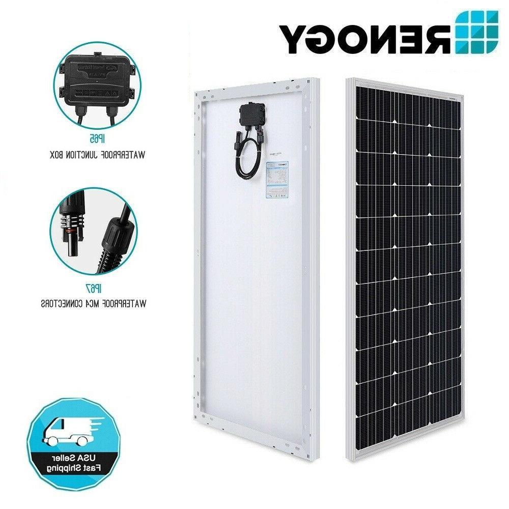 100w watt 12v volt mono crystalline solar