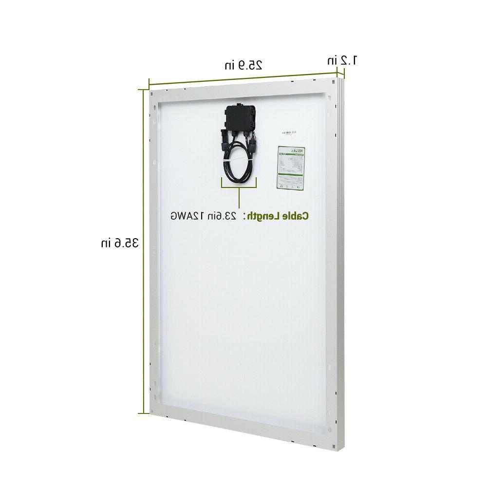 HQST 100W Watt Solar Panel 400W 200W 12V