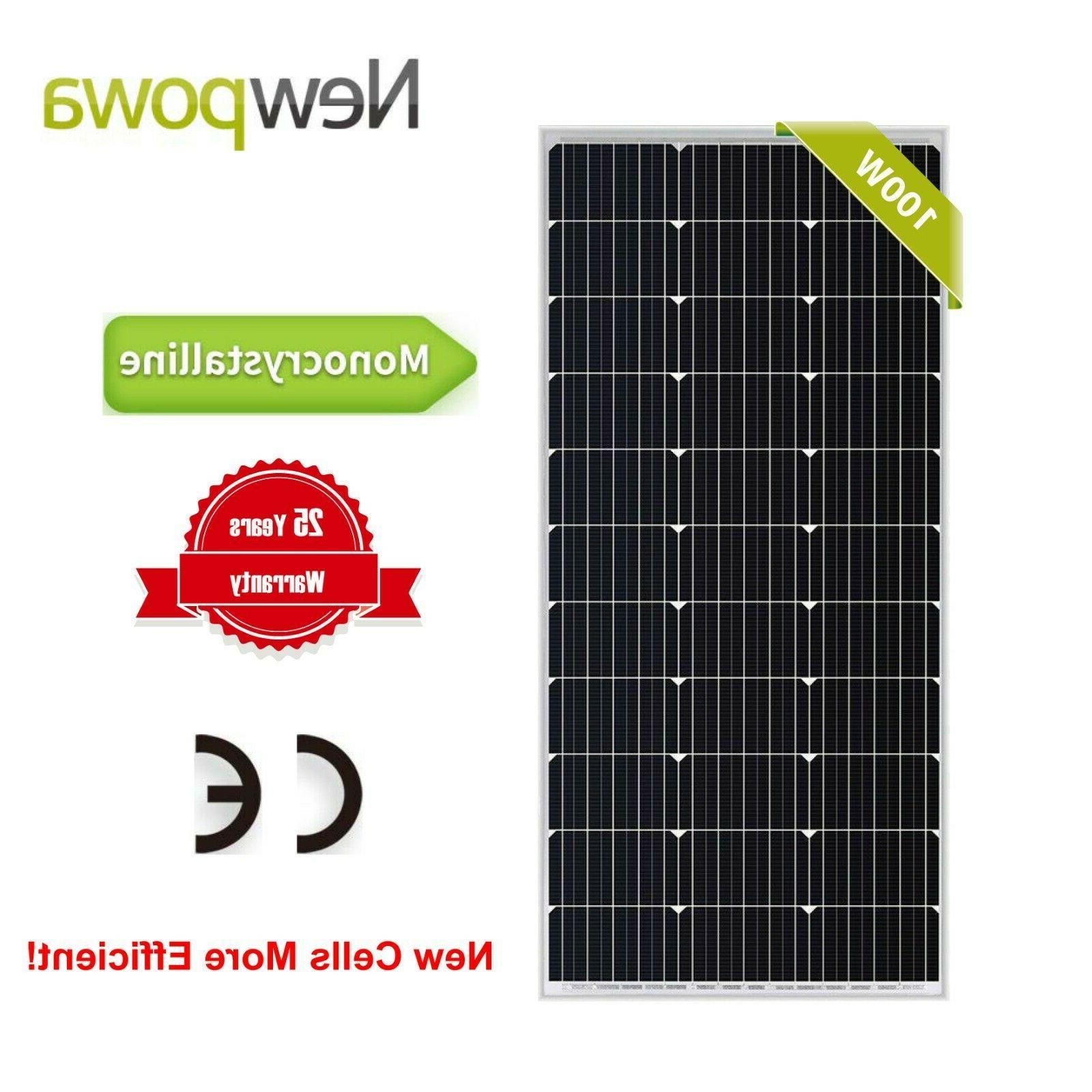 100w watts 12v monocrystalline solar panel off