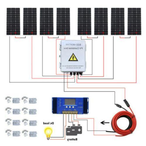 ECO Solar Panel Kit:800W 600W 500W 400W 200W 100W Solar Pane