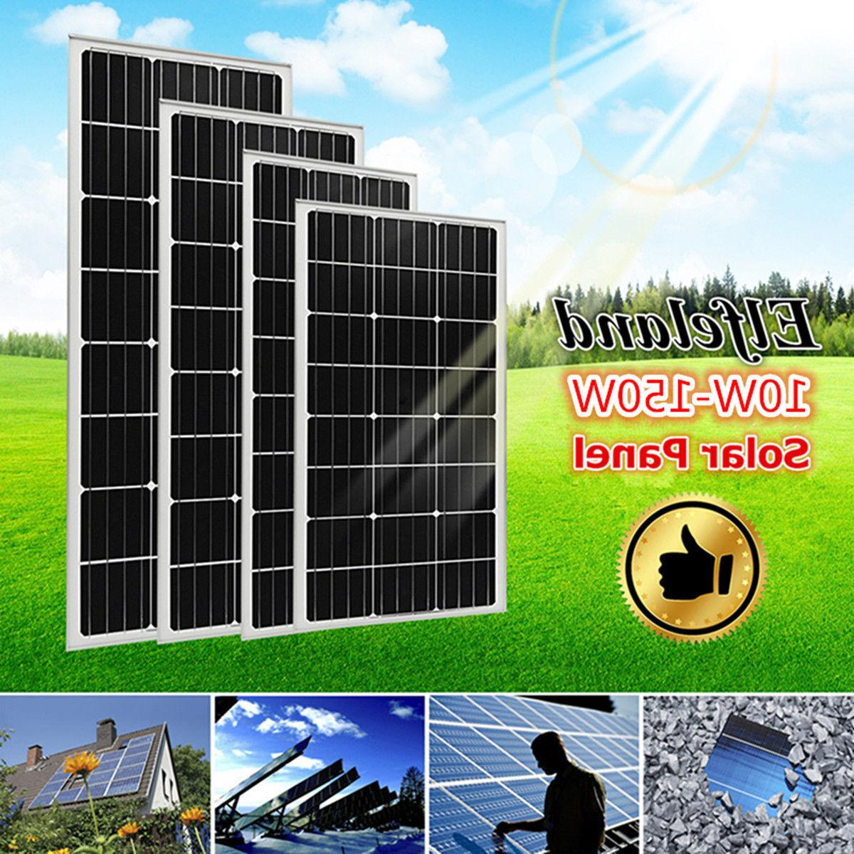 10/150W 18V Poly Solar Panel Battery Charger Off Grid For 12