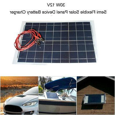 10W/20W/30W 12V Flexible Solar Charger Controller+Cable
