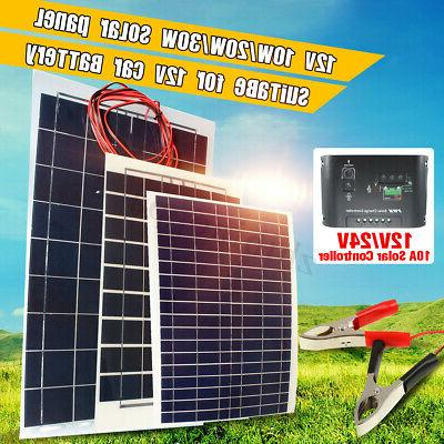 10W/20W/30W Solar Panel Charger Controller+Cable