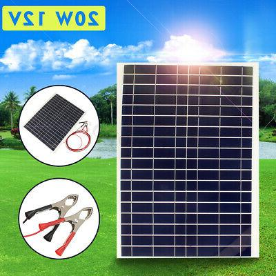 10W/20W/30W 12V Semi Solar Panel Charger Controller+Cable