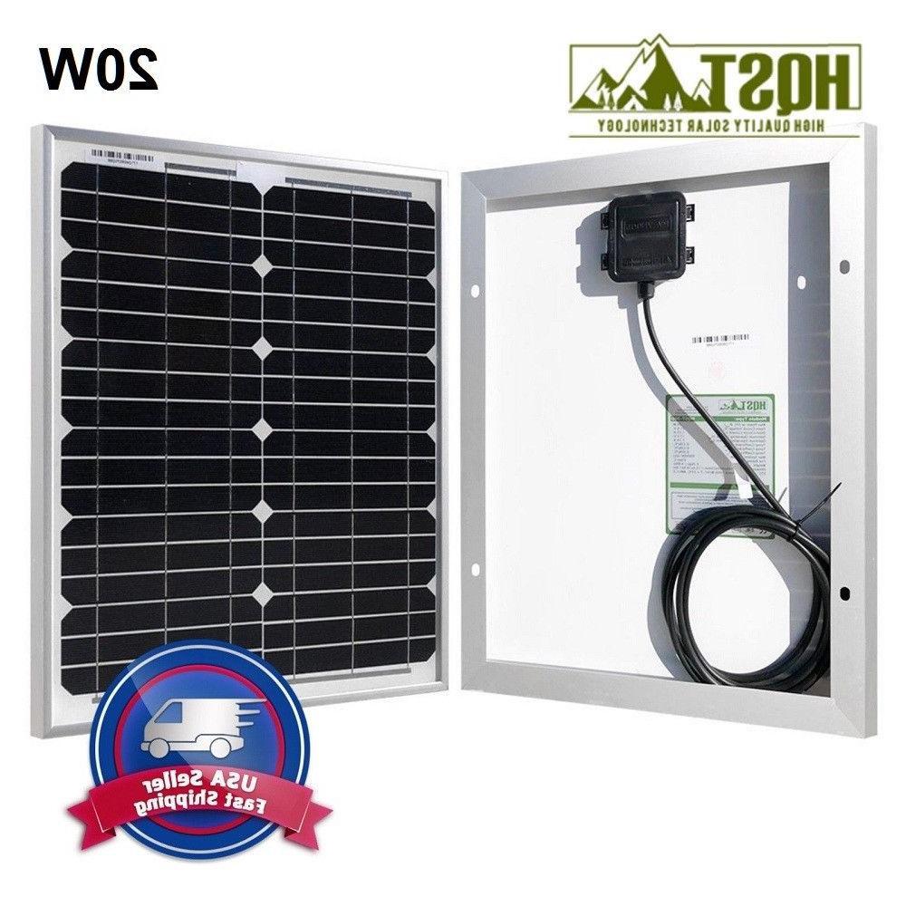 HQST Mono Panel 12V Volt Grid Power Camping