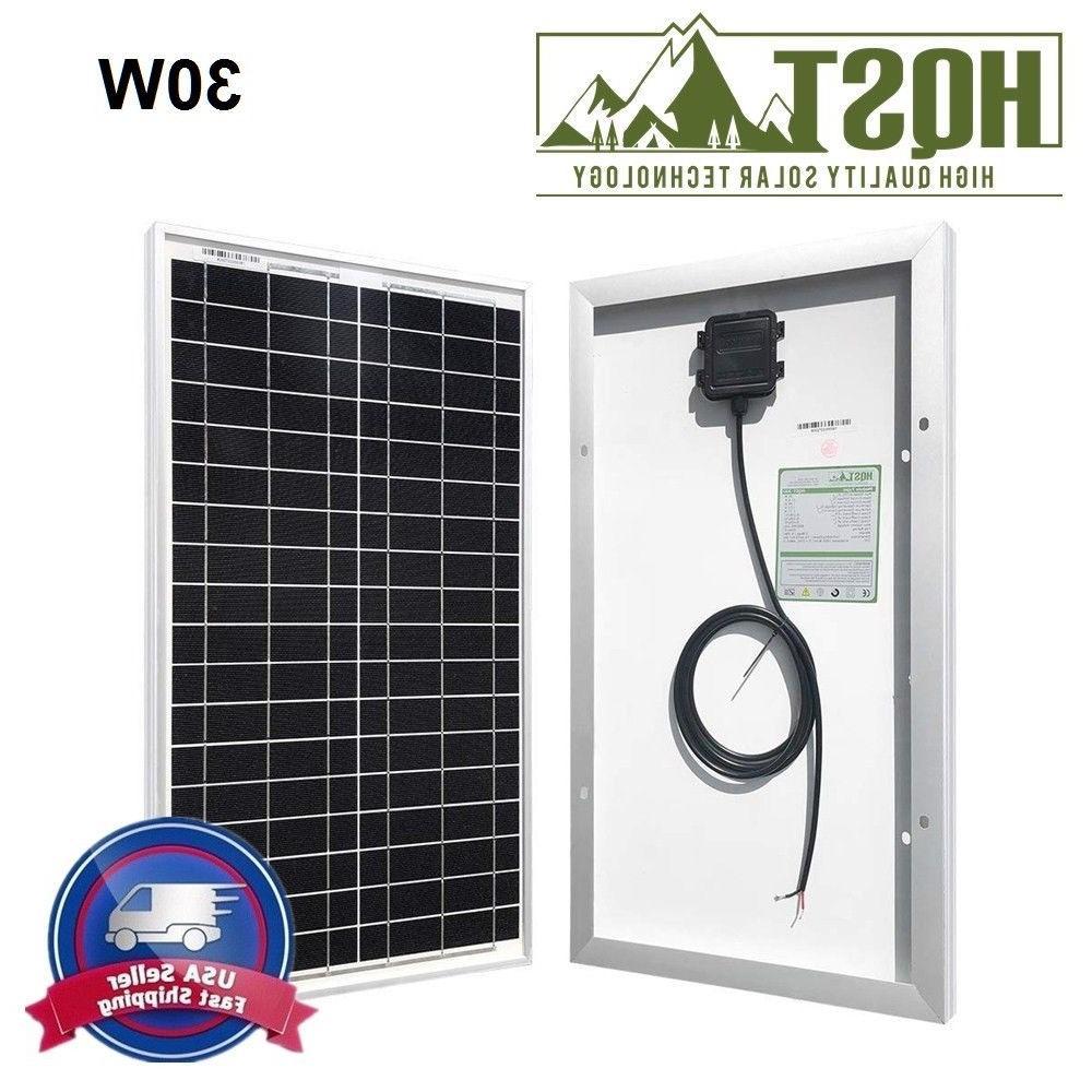 10W 20W 30W Watt Mono Panel 12V Volt PV Power Camping