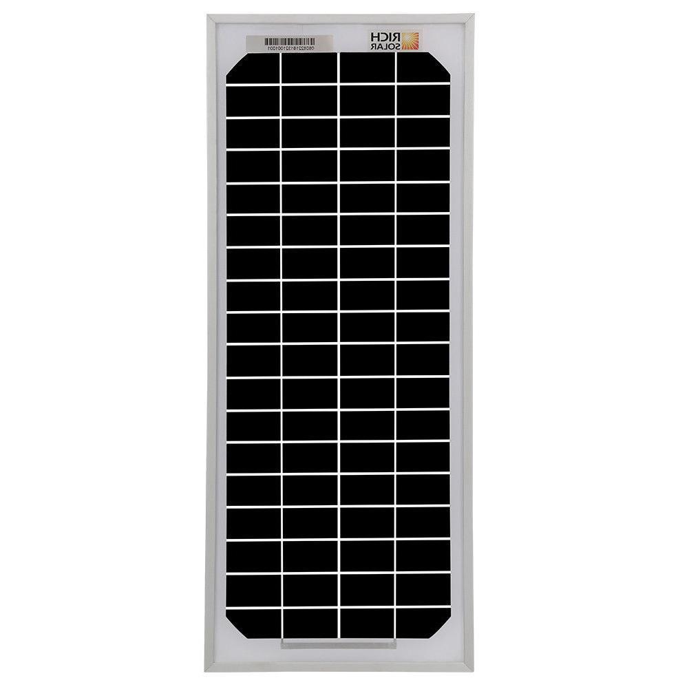 RICH 20W 30W 50W 100W Monocrystalline Panel 12V Battery Charger