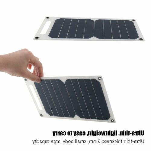 10W 5V Solar Panel USB Port Portable Waterproof