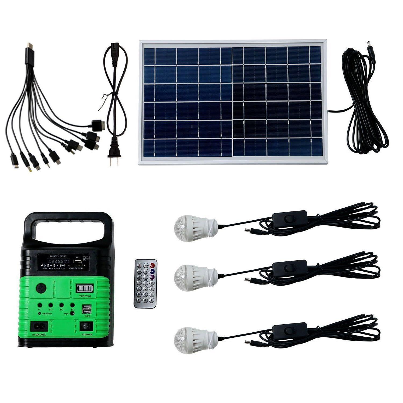 10W Portable Power Solar Generator Lighting Kit Generator fo