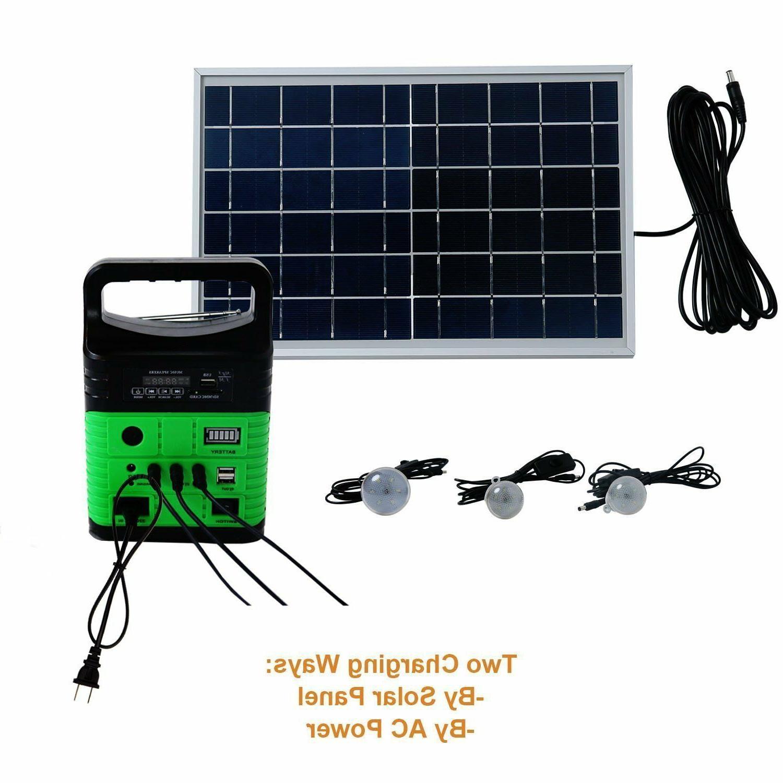 Solar Panels 10W Portable Generator Power Solar Generator Li