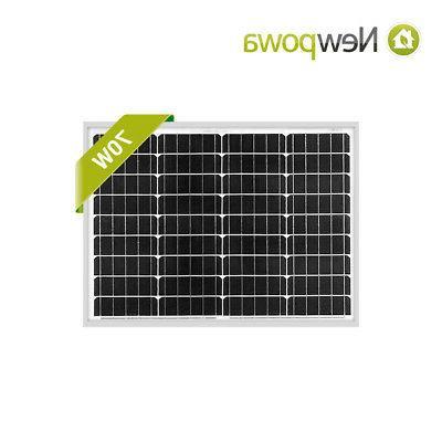 70w watt panel 12v solar battery charging